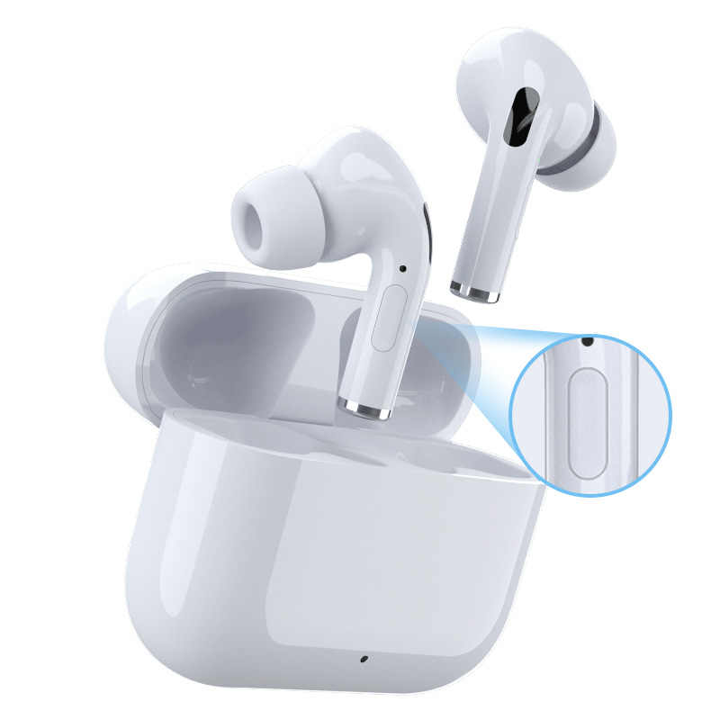 Airpodding Upgrade TWS Wireless Bluetooth Earphone HiFi Musik Di-Telinga Stereo Earbud Gaming Headset Olahraga Headphone untuk iPhone