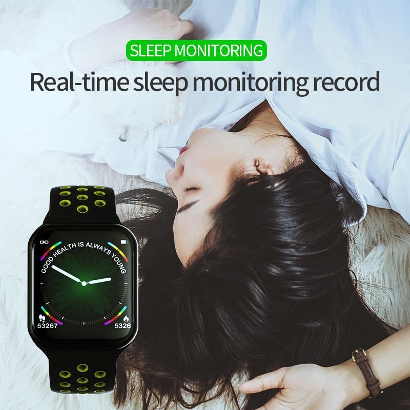 Image 5 - Wearpai f8 relógio inteligente homem pressão arterial à prova  dwaterproof água smartwatch feminino monitor de freqüência cardíaca  fitness rastreador relógio esporte para androidPulseiras inteligentes