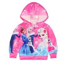 Girls Jackets Hoodies Princess Anna Elsa Baby Jacke