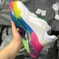 Balencia/Женская обувь; коллекция 2019 года; Лидер продаж; массивные кроссовки; женская модная Вулканизированная обувь; белые кроссовки; Basket Femme; о