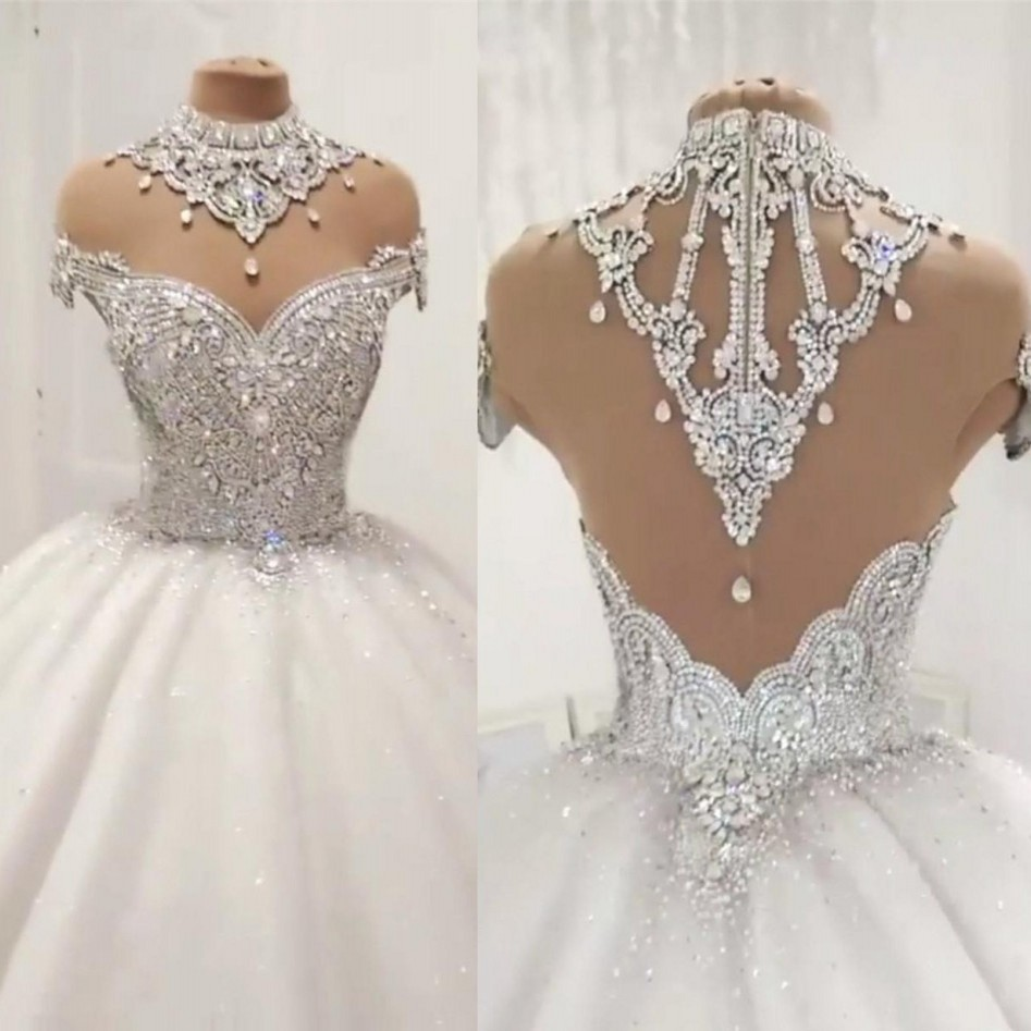 snow white arabic wedding gowns custom made long bridal gown