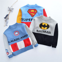 Cartoon Kids Boys Sweaters For Children Knit Sweater Casual Autumn Warm Long Sleeve Clothes