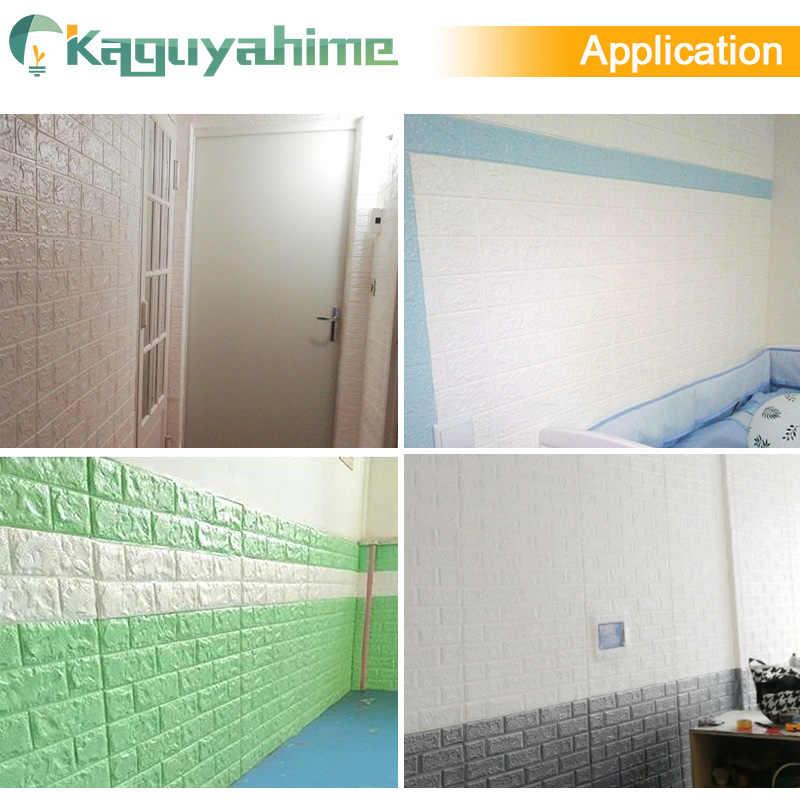 Kaguyahime 3D 防水壁紙レンガ Diy 自己粘着ステッカー装飾家庭の台所のための大理石の壁紙