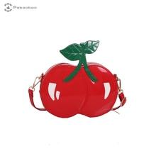 Pabaobao Beach cherry-shape Shoulder Bags for women 2019 Pu Small Shell Messenger Crossbody Bag Fashion Handbag sac main femme