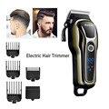 Kemei машинка для стрижки волос 100-240 в профессиональный триммер для волос для парикмахера перезаряжаемая машинка для бритья электрическая ре...