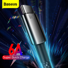 Baseus 6A USB Type C Cable 66W SCP FCP Fast Charging For Huawei Mate 40 Nova 8 Quick Charge USB C Data Cord For Samsung Xiaomi