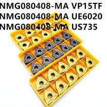 Carbide insert WNMG080408 MA VP15TF / UE6020 / US735 outer round knife WNMG080408 lathe tool CNC tool milling cutter режущий инструмент mitsubishi wnmg080408 ma ue6110 ue6020