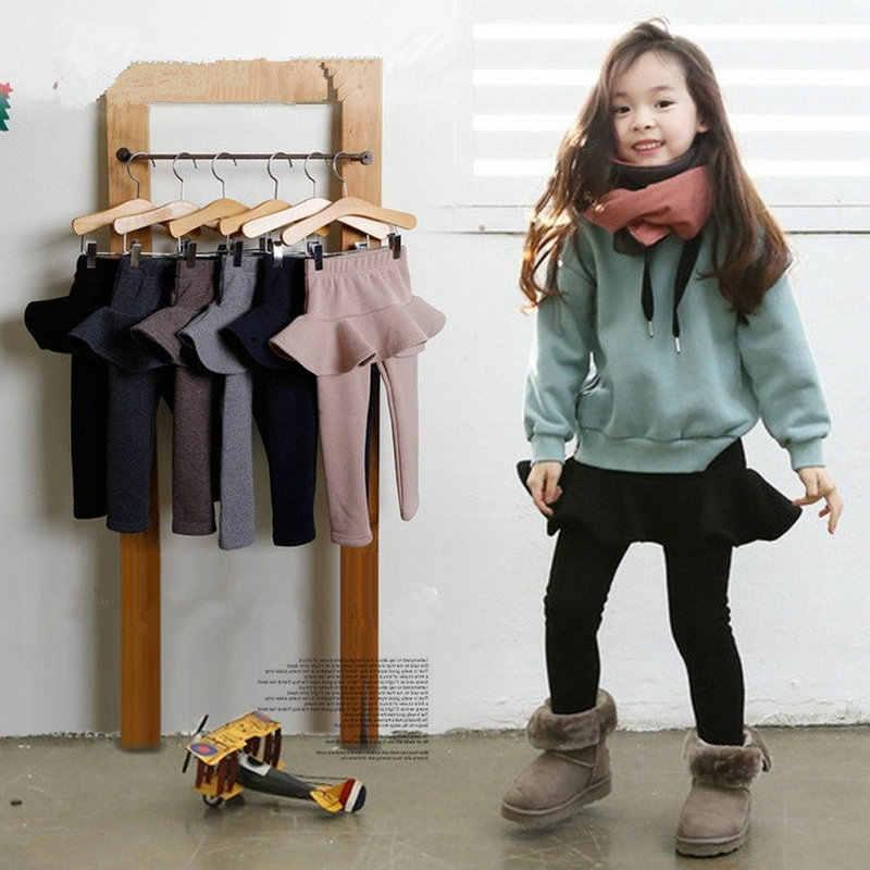 子供服ガールのパンツレイヤリングぬいぐるみと肥厚スカートパンツ Bottomwear 新しい冬服幼児レギンス