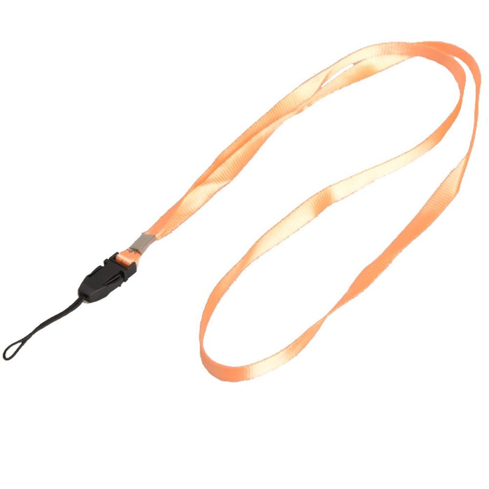 1 шт., ремешок для телефона на шею, для удостоверения личности, пропуска, значка, ключ для спортзала/держатель для мобильного телефона, USB, сделай сам, веревка, Лариат, ремешок - Цвет: Light orange