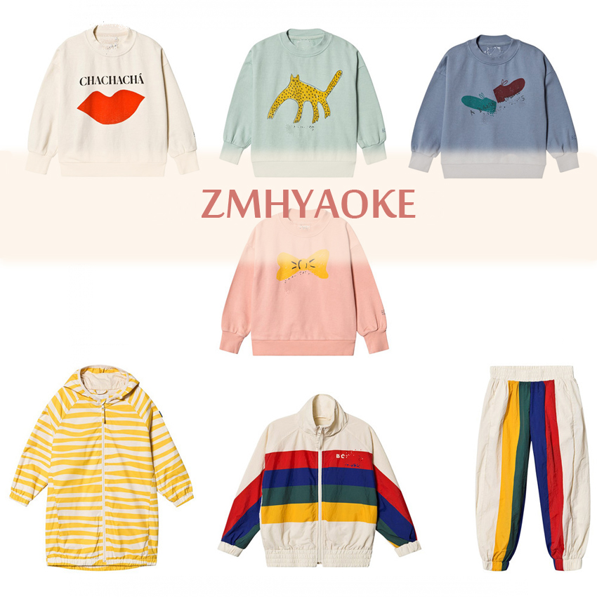 Sweatshirts Tops Fashion Clothing Christmas Girls Boys Spring ZMHYAOKE for Kid Thanksgiving title=