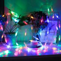 3m EU Plug LED Curtain Lamp Strings Warm White/Multicolor Waterproof Decorative Icicles Fairy Lights for Outdoor Home Party