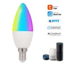 Умная светодиодная лампочка с Wi-Fi для умного дома, приглушаемый светильник с дистанционным голосовым управлением через приложение SmartLife/Tuya ...