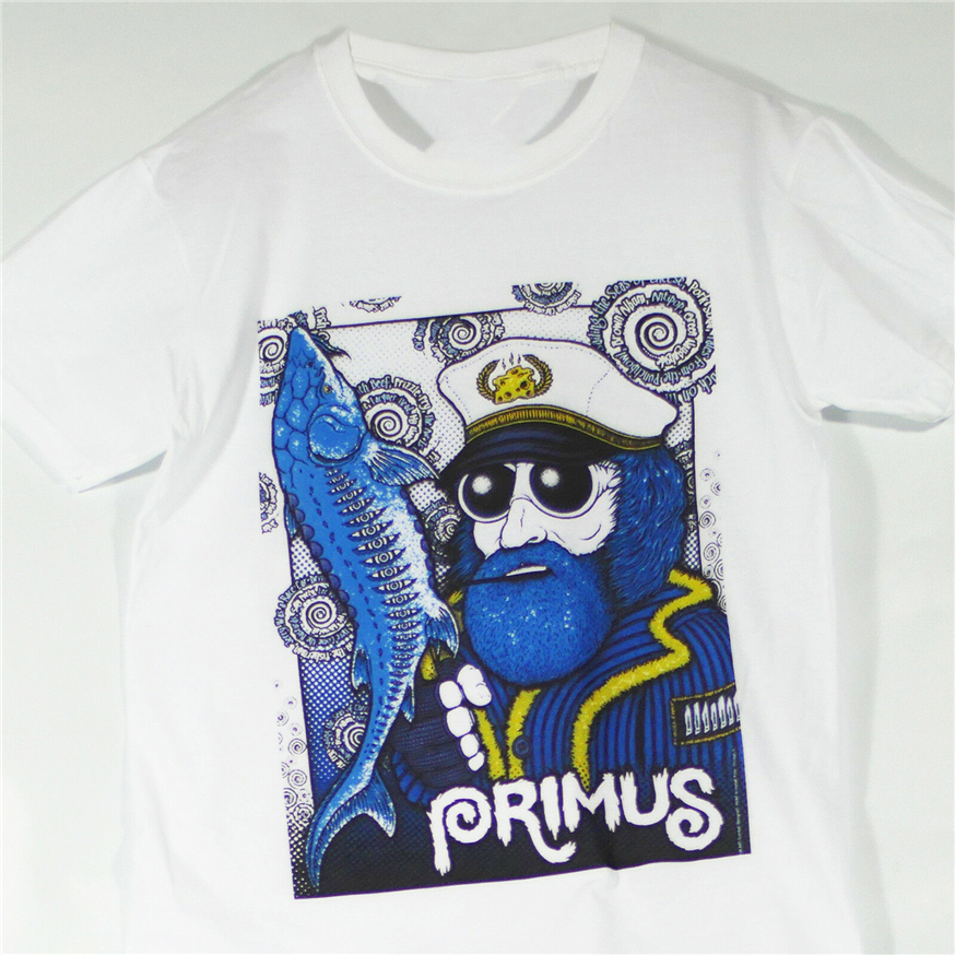 Primus Metal Punk Rock T-<font><b>Shirt</b></font> Helmet <font><b>Porno</b></font> For Pyros Oysterhead Ween S-3Xl Slim Fit Tee <font><b>Shirt</b></font> image