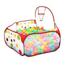 Складной детский манеж океан мяч игровой бассейн портативная детская игровая палатка в/открытый игровой домик бассейн яма детская палатка игрушка
