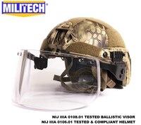 MILITECH Kryptek Highlander Deluxe NIJ IIIA SCHNELLE Kugelsichere Helm und Visier Set Deal Ballistischen Helm Kugelsichere Maske Pack