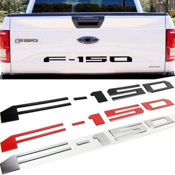 Car 3D ABS Emblem Badge logo sticker for Ford F-150 SVT Raptor F150 Car Rear Trunk letters Decal stickers styling accessories qhcp car styling abs letter sticker rear trunk decklid badge emblem stickers decoration fit for ford mustang 2015 2016 2017 2018