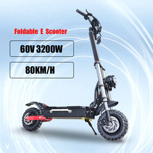 60V 3200W Powerful Electric Scooter kick Off Road Skateboard Longboard Adult two wheel Foldable patinetes electricos potentes