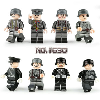 New Legoinglys WW2 Military Army Soldier Figures Building Blocks German Minifigure Weapon Helmet Bricks Toy Children Gift 1630