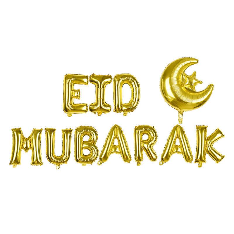 Eid Mubarak Bandiera Palloncini Ramadan Kareem Decorazione Ramadan Mubarak Musulmano Islamico Del Partito di Festival Decorazioni FAI DA TE