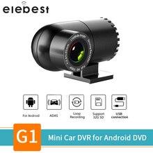 USB MINI Dash CAM รถ DVR เลนส์กล้องหมุนได้ 360 องศา ADAS LDWS อัตโนมัติเครื่องบันทึกวิดีโอดิจิตอลสำหรับรถยนต์ android Player