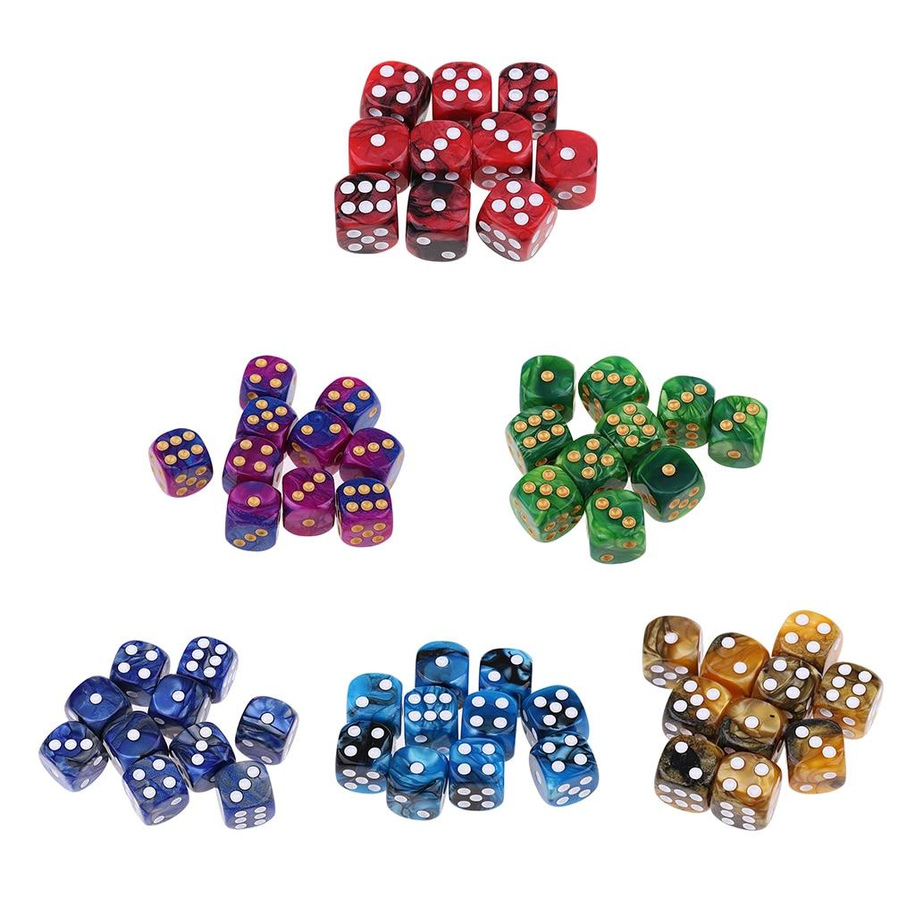 10x d6 seis face jogo de mesa dados 16mm para mtg dnd trpg jogos dados diversão brinquedos