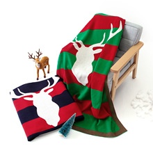 2019 Newest Christmas Elk Baby Blankets Newborn Plaid Swaddle Blanket Children Knitted Air Conditioning Blanket Green Red Black