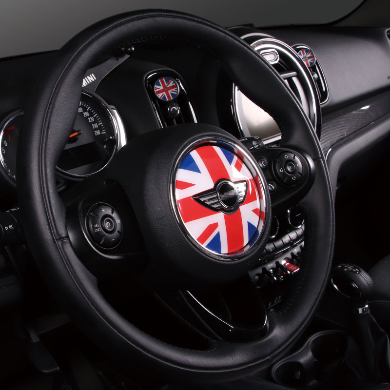 3d Steering Wheel Decorative Sticker Car Styling Accessories Decoration For BMW MINI COOPER S ONE JCW F54 F55 F56 F60 Clubman