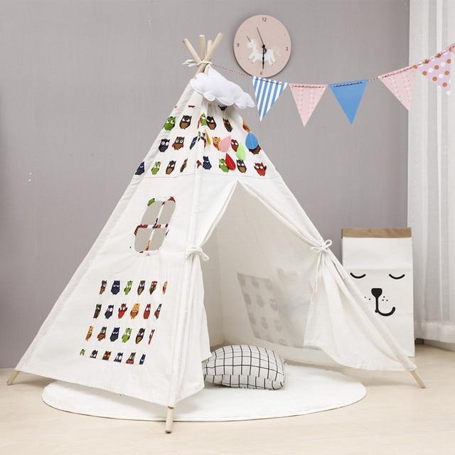 Nordic Style Wooden Teepee Children's Tent  4