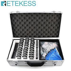 Image 1 - Retekess T130ワイヤレスツアーガイドシステム充電ケース + 2トランスミッタ + 30受信機教会翻訳工場ビジネスミーティング