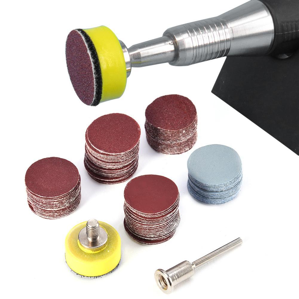 100pcs Sander Disc Sanding Polishing Paper Sandpaper For Polishing Cleaning Tools 1/8 Inch Handle Abrasive Tools For Sander Grit