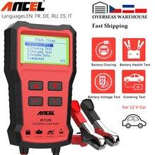 ANCEL probador de batería de coche BST100 Analizador de cargador 12V 2000CCA, probador de batería de coche, herramientas de carga Cricut
