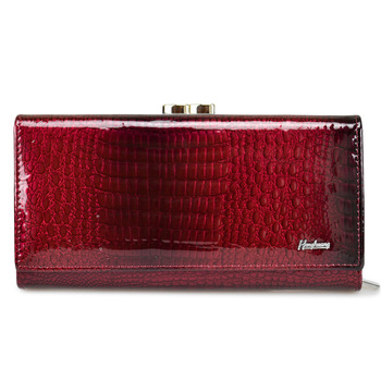 HH Brand Genuine Leather Women Wallets Crocodile Print Long Hasp Zipper Wallet Luxury Female Clutch Bag Purse Ladies Money Bags fashion noctiluc wallets women long purse clutches embossing female zipper wallet money bags for woman cards purse and hand bags