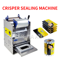 Semi automatic Sealing Machine Cooked Food Preservation Box Sealing Machine Lunch Box Packing Machine Fast Food Product 220V
