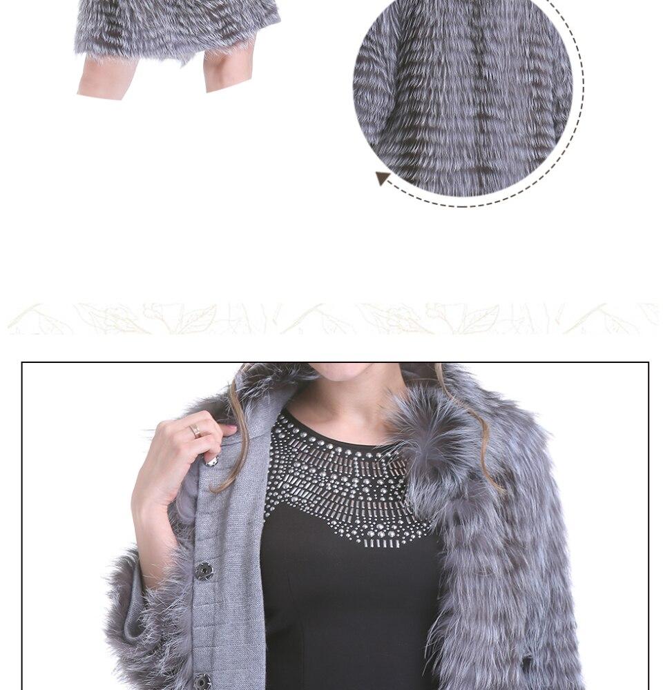 mulheres longo natural casaco de pele feminino