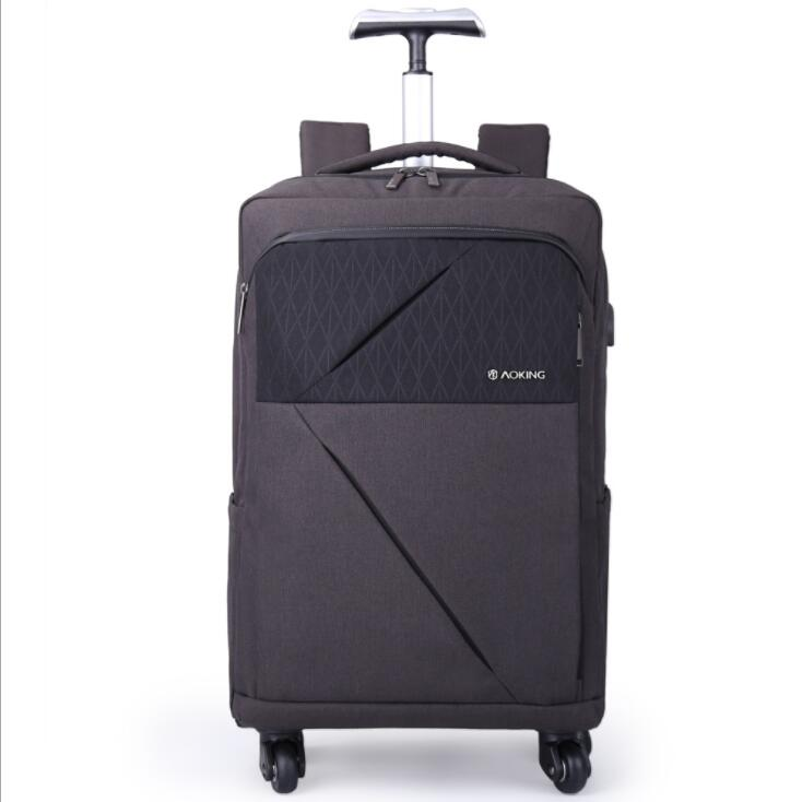 Luggage Backpack Bag With Wheels Men Travel Trolley Bag Wheeled Backpack For Business Carry On Luggage Backpack Rolling Suitcase