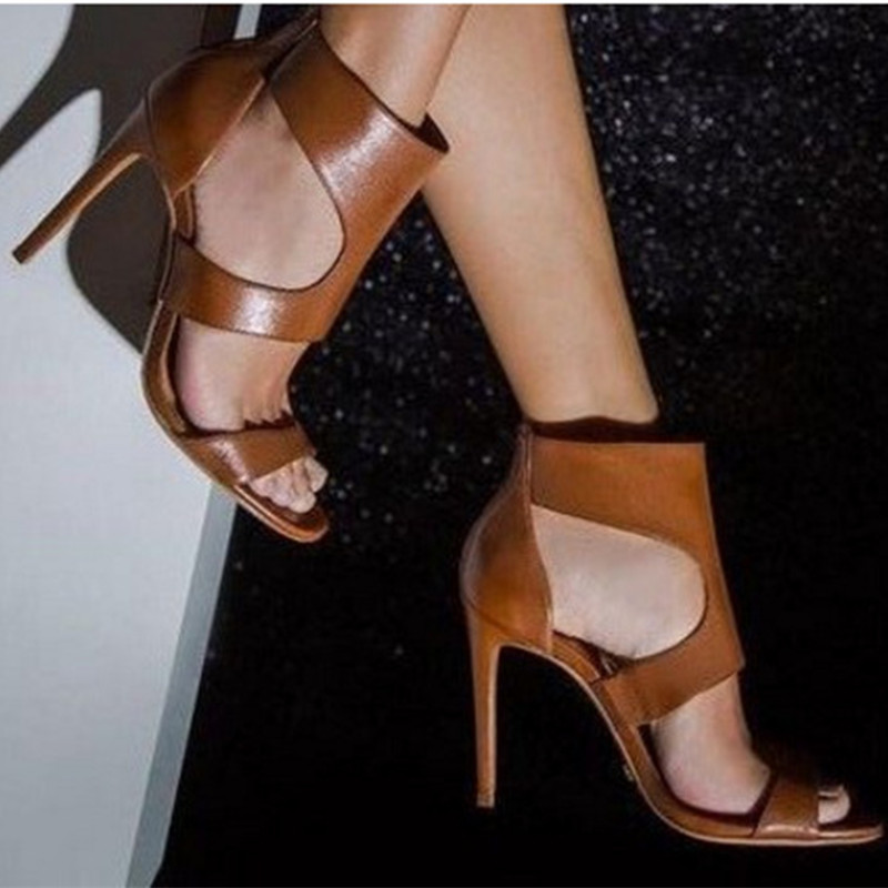 Verano 2020 mujeres Sandalias de tacón alto de Punta abierta Retro gladiador moda tacones altos zapatos Sexy para fiesta damas sandalias tamaño 32 33 41 43