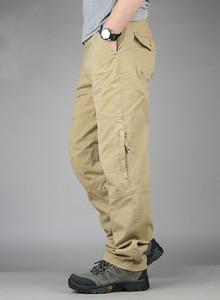 Image 3 - 30 40 yüksek kaliteli erkek kargo pantolon Baggy rahat erkekler taktik pantolon çok cep askeri genel erkek açık havada uzun pantolon ordu