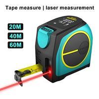 Mileseey DT10 2 in 1 Digital LCD Display Lasers Rangefinder Measuring Tape Tool Magnetic Hook for Engineering Team