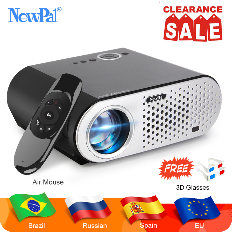 Newpal GP90 UP Mini Projector 3200Lumens Android WiFi Video Projecteur 1 2 5M Throwing Support Full