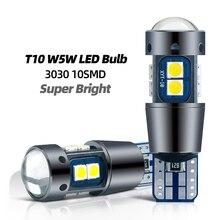 2x sinyal lambası T10 W5W Led Canbus ampul 12V 10SMD 3030 cips W5W LED 168 194 oto kama park lambası okuma kubbe ışık