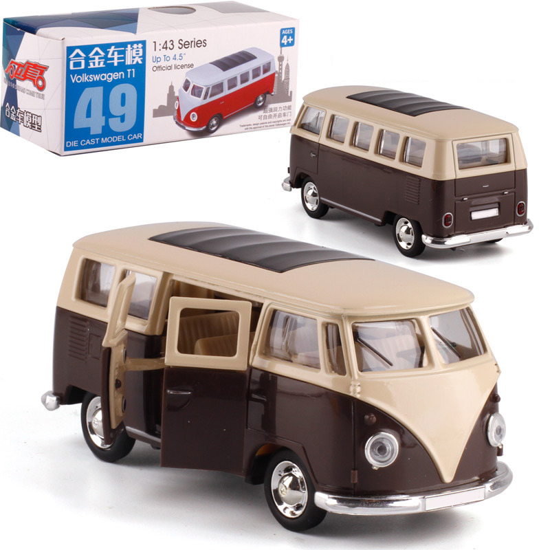Gift 1:43 Scale Kids Transportation Toys Bus Alloy Pull-back Car Diecast Metal Car Model For Kids Friend Collection Kids Gifts