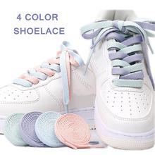 1 пара шнурков ярких цветов на плоской подошве шнурки basket