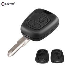 KEYYOU, автомобильные аксессуары, брелок чехол для peugeot 106 206 306 406 ключа оболочки 2 кнопки автомобиля сменный Корпус ключа для дистанционного ключа автомобиля чехол