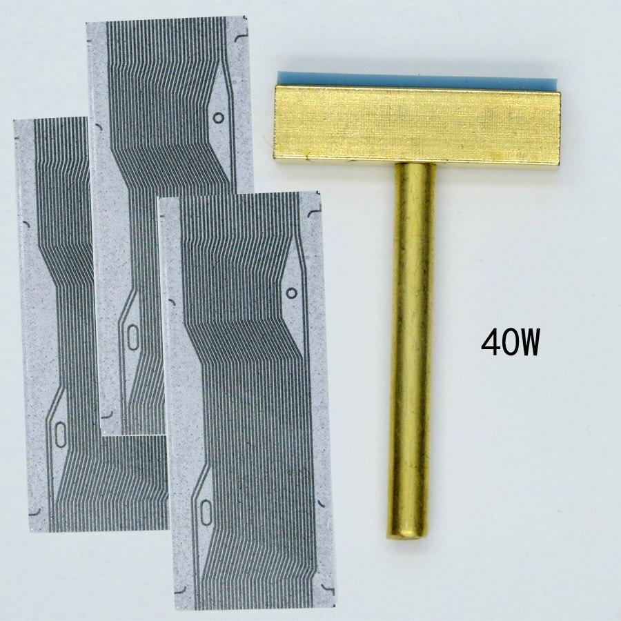 Soldador T-iron T-tip Head LCD Pixel Ribbon Cable Repair Tool 40W
