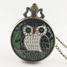 Cute Lovely Owl Pattern Steampunk Pocket Watch Vintage Charm Unisex Fashion Quartz Watch Women Men Necklace Pendant with Chain fashion cute girl picture pocket watch with necklace pendant clock chain jewelry gifts lxh