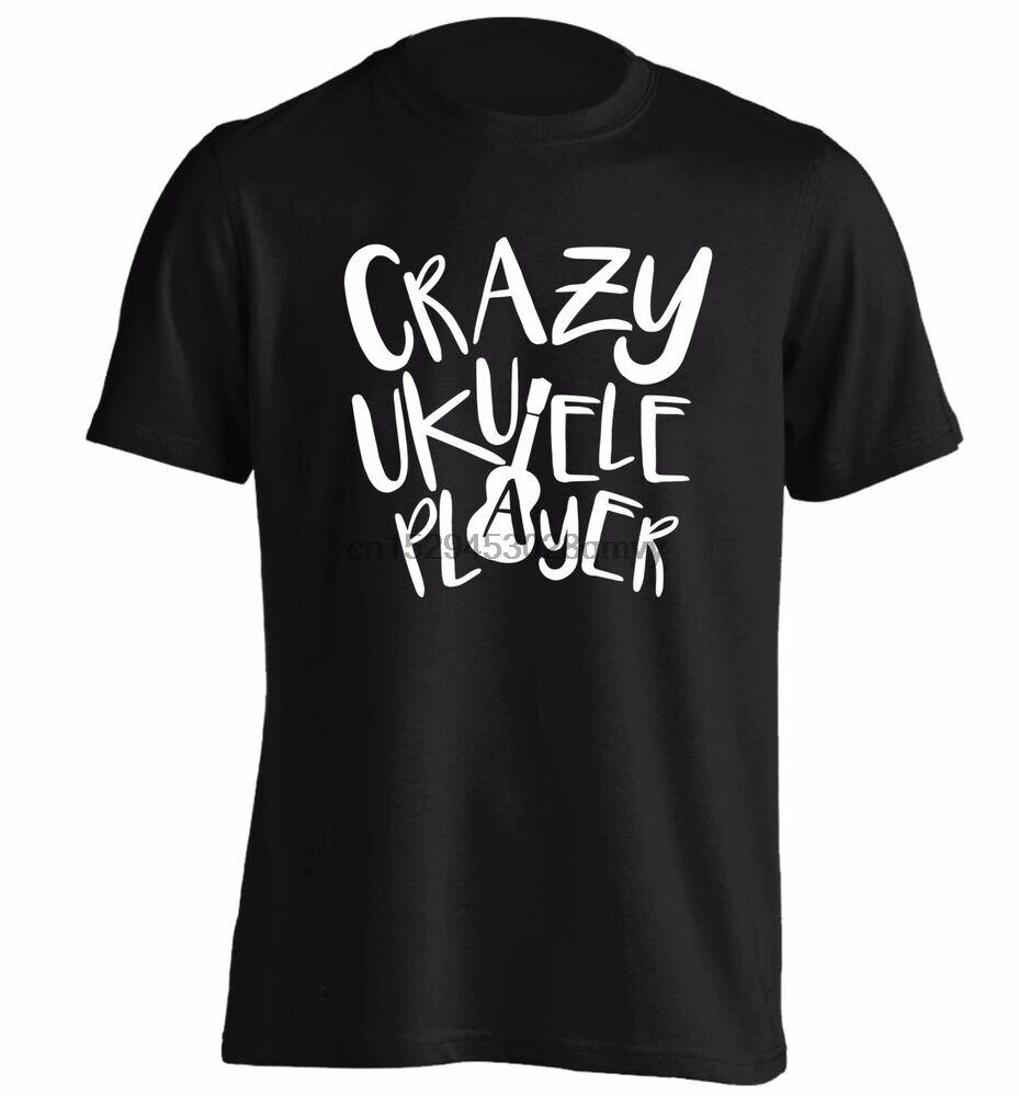 Crazy ukulele player t shirt play strum music musician banjo fan ...