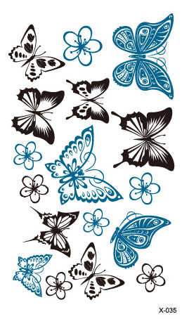 Temporary Tatoo Fake Tattoo Sticker Butterfly Flower Tatouage Waterproof Tattoos Stickers Body Art Tatto For Women Girl