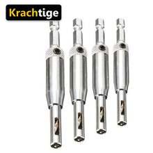Krachtige 4 pces ferramentas de broca broca buraco perfurador hss auto centralização dobradiça ferramentas de ferragem conjunto porta gabinete 5/64