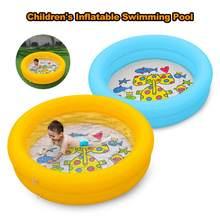 Piscine gonflable pour bébé, 60x60x15cm, jouets pour enfants, pataugeoire, baignoire de sable, océan, piscine extérieure pour la maison