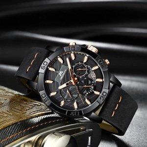 Image 2 - reloj hombre watches MEGALITH sport chronograph waterproof watch men top brand luxury luminous watch men leather horloges mannen